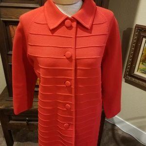 Vintage wool knit coat